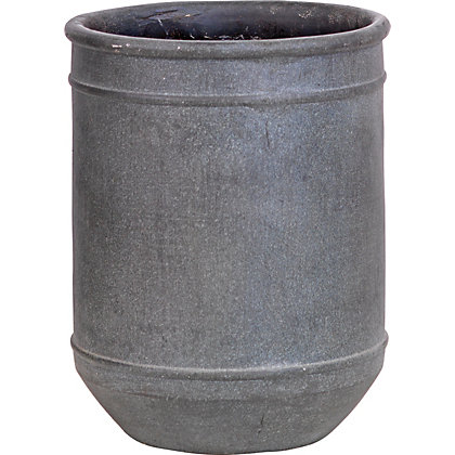 Image for Retreat Grey Crackle Pot - 22.5cm from StoreName