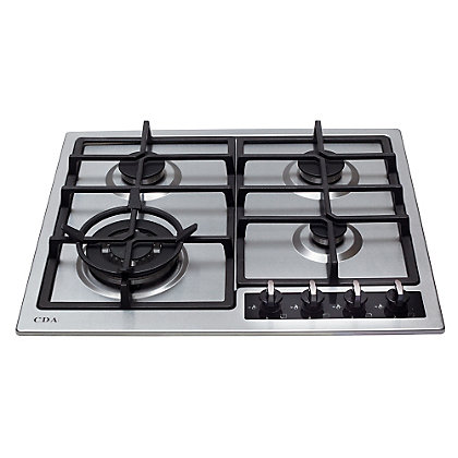 Image for CDA HG6350SS 4 Burner Gas Hob from StoreName