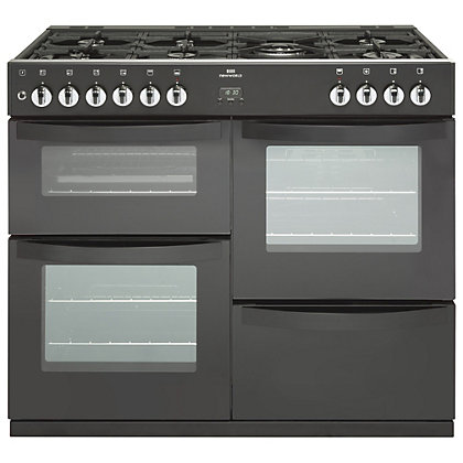 Image for New World Vision Dual Fuel Range Cooker - 100cm - Black from StoreName