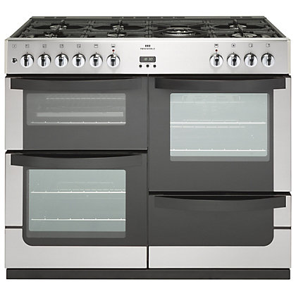 Image for New World Vision Dual Fuel Range Cooker - 100cm - Stainless Steel from StoreName