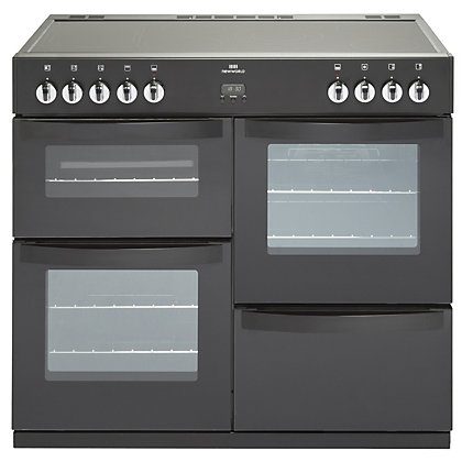Image for New World Vision Electric Range Cooker - Black - 100cm from StoreName