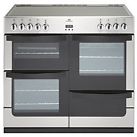 New World Vision Electric Range Cooker - Stainless Steel - 100cm