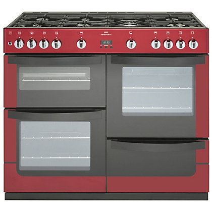 Image for New World Vision Gas Range Cooker - 100cm - Red from StoreName