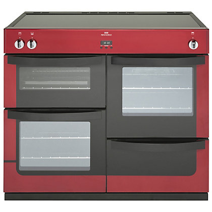 Image for New World Induction Range Cooker - Red - 100cm from StoreName