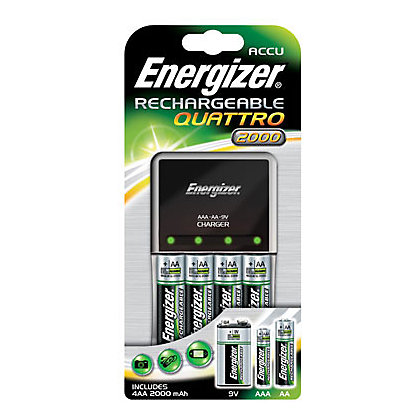 Image for Energizer Quattro 2000mAh Charger with 4 x AA 2000mAh Batteries from StoreName