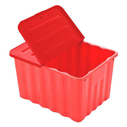 Image for Box with Lid - Red and Blue from StoreName