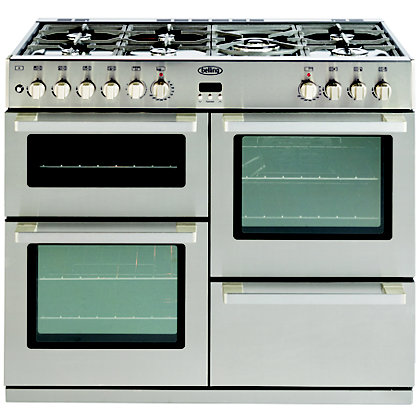 Image for Belling DB4 Dual Fuel Range Cooker - 110cm - Stainless Steel from StoreName