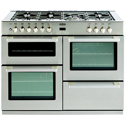 Image for Belling DB4 Dual Fuel Range Cooker - Stainless Steel - 110cm from StoreName