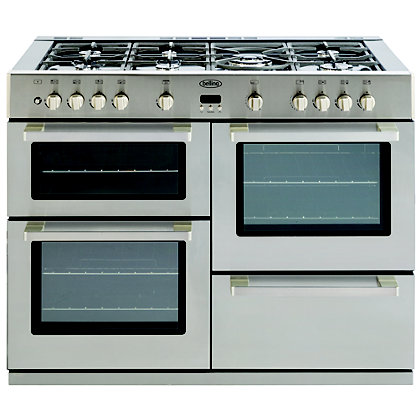 Image for Belling DB4 Gas Range Cooker - 110cm - Stainless Steel from StoreName
