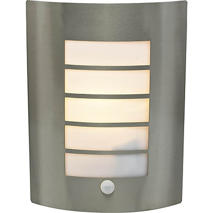Image for Flush Stainless Steel Wall Light with PIR from StoreName