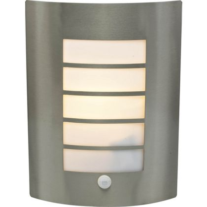 Flush Stainless Steel Wall Light with PIR