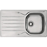 Hygena ISKEN Compact Stainless Steel Sink - 1 Bowl