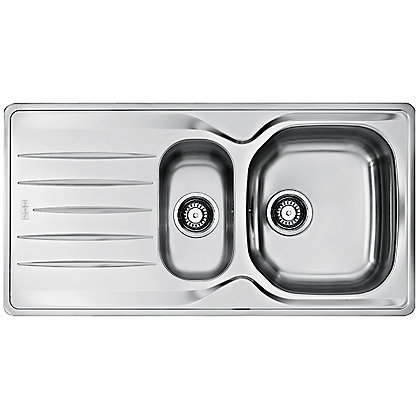 Image for Hygena ISKEN Stainless Steel Sink - 1.5 Bowl from StoreName