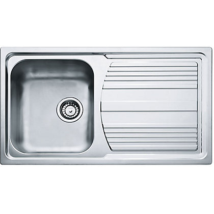 Image for Hygena ISK02 Reversible Stainless Steel Sink - 1 Bowl from StoreName