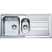 Hygena ISK01 Reversible Stainless Steel Sink - 1.5 Bowl