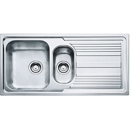 Image for Hygena ISK01 Reversible Stainless Steel Sink - 1.5 Bowl from StoreName