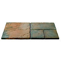 Brett Walton Paving Mixed Size Patio Pack 7.61sq m 33 Pack - Copper Glow