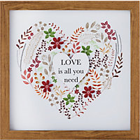 Heart of House Homestead 'Love Is All You Need' Print and Frame