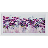 Heart of House Plum Floral Meadow Framed Print