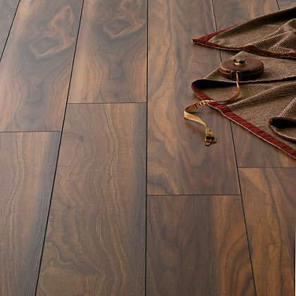 Image for Hygena American Walnut Laminate Flooring - 1.33sq m per pack from StoreName