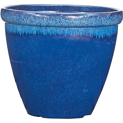 Image for Two Tone Ocean Plastic Planter - Blue from StoreName