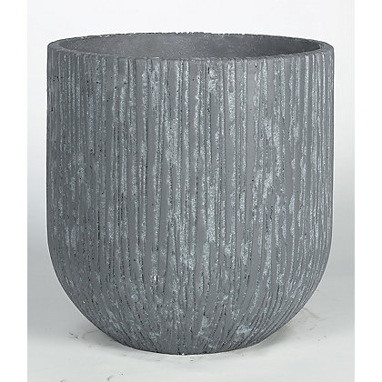 Image for Slate Effect Grey Planter - 25cm from StoreName