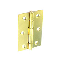 Loose Pin Hinge Electro Brass - 75mm - Pack of 6