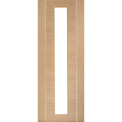 Image for Sudbury Clear Glazed Oak Internal Door - 762mm Wide from StoreName