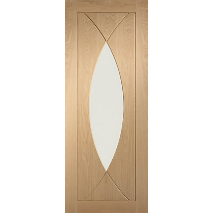 Image for Havant Clear Glass Oak Internal Door - 686mm Wide from StoreName
