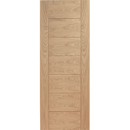 Image for Bromley 7 Panelled Oak Internal Door - 762mm Wide from StoreName