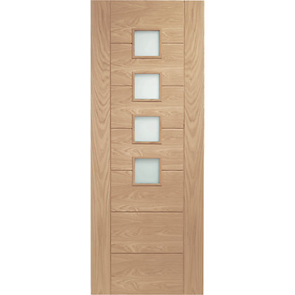Image for Bromley 4 Lite Panel Oak Internal Door - 762mm Wide from StoreName