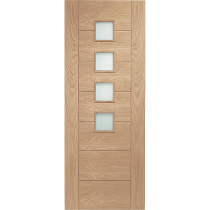 Image for Bromley 4 Lite Panel Oak Internal Door - 838mm Wide from StoreName