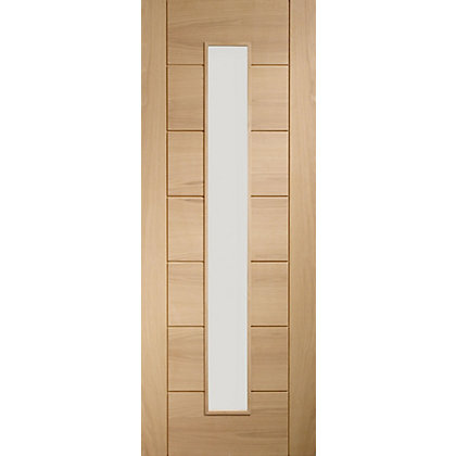 Image for Bromley 1 Lite Panel Oak Internal Door - 610mm Wide from StoreName