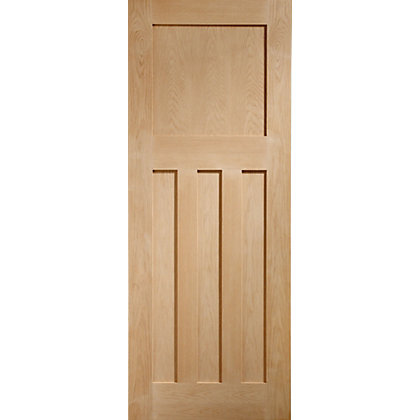 Image for DX 4 Panel Traditional Oak Internal Door - 838mm Wide from StoreName