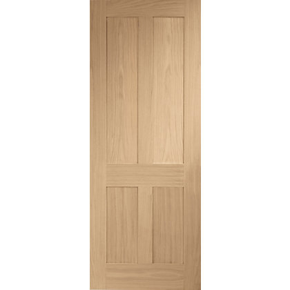Image for London 4 Panel Shaker Oak Internal Door - 762mm Wide from StoreName