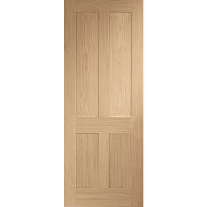 Image for London 4 Panel Shaker Oak Internal Door - 838mm Wide from StoreName