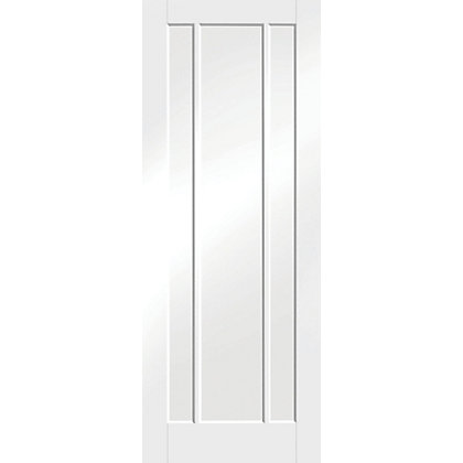 Image for Arundel 3 Panel Primed White Internal Door - 610mm Wide from StoreName