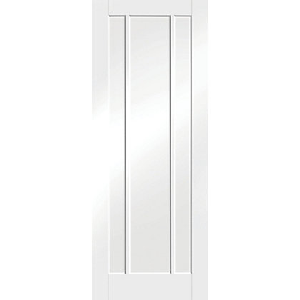 Image for Arundel 3 Panel Primed White Internal Door - 686mm Wide from StoreName