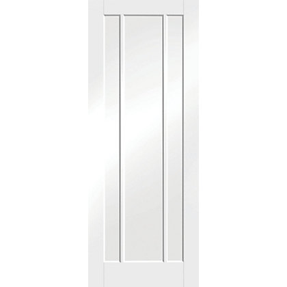 Image for Arundel 3 Panel Primed White Internal Door - 762mm Wide from StoreName