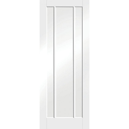 Image for Arundel 3 Panel Primed White Internal Door - 826mm Wide from StoreName