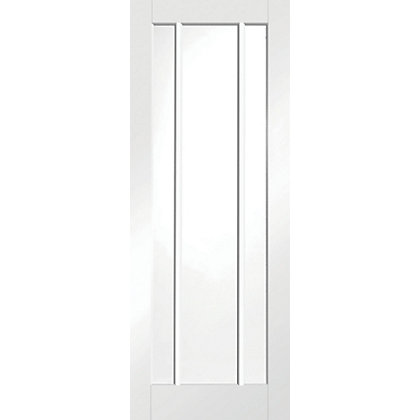 Image for Blenheim 3 Glazed White Primed Internal Door - 826mm Wide from StoreName
