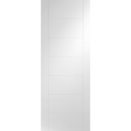 Image for Bromley 7 Panel Primed White Internal Door - 826mm Wide from StoreName