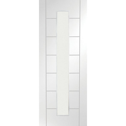 Image for Bromley Glazed Primed White Internal Door - 762mm Wide from StoreName