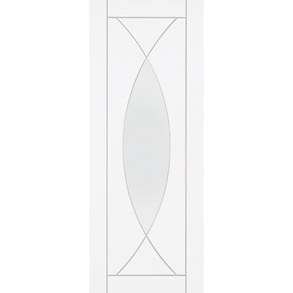 Image for Havant Lite Primed White Glazed Internal Door - 762mm Wide from StoreName