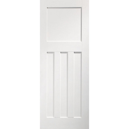Image for DX 4 Panel Primed Panelled White Internal Door - 762mm Wide from StoreName
