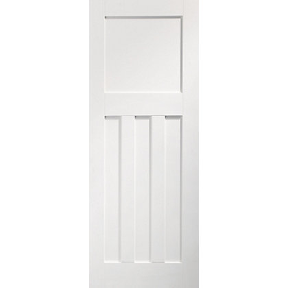 Image for DX 4 Panel Primed Panelled White Internal Door - 838mm Wide from StoreName