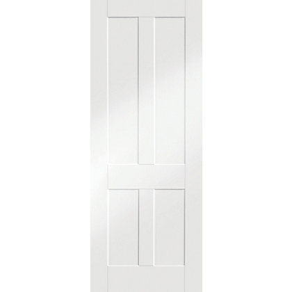 Image for London Shaker 4 Panel Primed White Internal Door - 610mm Wide from StoreName