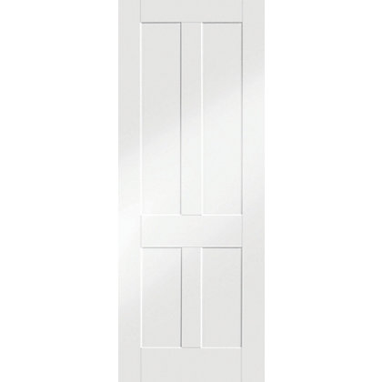 Image for London Shaker 4 Panel Primed White Internal Door - 686mm Wide from StoreName