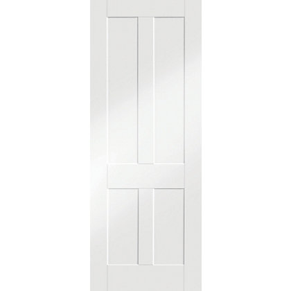 Image for London Shaker 4 Panel Primed White Internal Door - 838mm Wide from StoreName