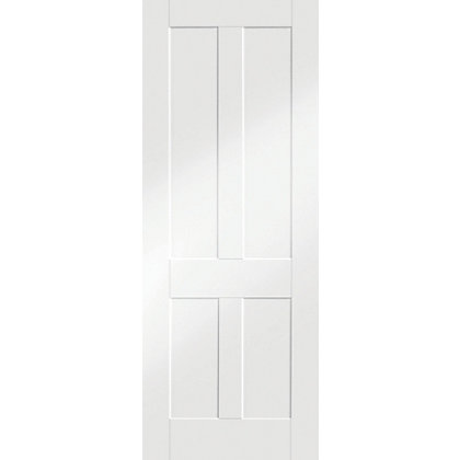 Image for London Shaker 4 Panel Primed White Internal Door - 726mm Wide from StoreName